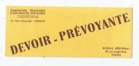 Buvard , Compagnies Françaises D'assurances Populaires , Bureau Régional , TOURS - Buvards, Protège-cahiers Illustrés