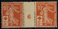 France (1914) N 147 * (charniere) Millesime 6 - Rotes Kreuz