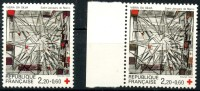 France (1986) N 2449 ** (Luxe) Couleur Grenat Absente - Rotes Kreuz