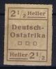 DEUTSCH-OSTAFRIKA : WUGA Mi Nr  III I  Not Used (*)