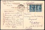 FRANCE PARIS DEPART 22 VI 1924 - OLYMPIC GAMES PARIS 1924 - MAILED POSTCARD: L´ARC DE TRIOMPHE - Estate 1924: Paris