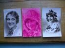 3 Carte De Silhouettes Ou Portraits De Femmes - Silhouettes