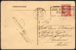FRANCE PARIS DEPART 26 II 1924 - OLYMPIC GAMES PARIS 1924 - MAILED POSTCARD: CONCORD PLACE - Estate 1924: Paris