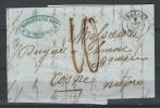 QZ--114-. LETTRE D' ORLEANS  Du 08/12/1849 Via COSNE /LOIRE, TAXE MANUSCRITE ,  LIQUIDATION - 1849-1850 Ceres