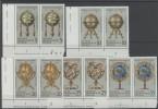 Lot DDR Michel No. 1792 , 1793 , 1795 , 1796 , 1797 ** postfrisch DV Druckvermerk / No. 1795 senkrecht gefaltet