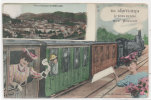 LE CHEYLARD - Fantaisie - Train - Vue Panoramique      (81104) - Le Cheylard