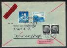 Eilbrief Von Saarbrücken Nach Elsterberg Portogerecht Mit 512/512 , 767 , 771 , Rückseitig Schöner Ankunftsstempel - Deutschland