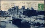 FRANCE PARIS GARE DE L´EST 1924 - OLYMPIC GAMES PARIS 1924 - MAILED POSTCARD: THE TOWN HALL AND ARCOLE BRIDGE - Estate 1924: Paris