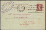 FRANCE PARIS RUE DES HALLES 11 VI 1924 - OLYMPIC GAMES PARIS 1924 - MAILED POSTCARD - STATIONERY - Estate 1924: Paris