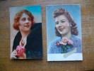 2 Cartes De Silhouettes Ou Portraits De Femmes - Silhouettes