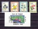 Isle Of Pabay 1963,4V+block,flowers,bloemen,blumen,fleurs,flores,fiori,MNH/Postfris(A1824) - Non Classés