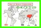 CARTES GÉOGRAPHIQUES - MAP OF WORLD COMMUNISM - BY CHARLES OLDHAM - WILD WEST POSTCARDS - - Cartes Géographiques