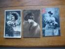 3 Cartes Silhouettes De Femmes - Silhouettes