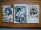 3 Cartes Silhouettes Ou Portraits De Femmes - Silhouettes
