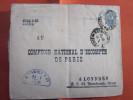 24-1-1895 ENTIER POSTAUX EMPIRE DE RUSSIE SOVIETIQUE URSS USSR =>LONDRES ENGLAND COMPTOIR NATIONAL PARIS  FRANCE - 1857-1916 Imperium