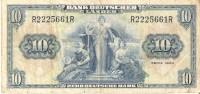 BILLETE DE ALEMANIA DE 10 MARCOS DEL AÑO 1949  (BANKNOTE) - [ 7] 1949-… : RFA - Rep. Fed. Tedesca