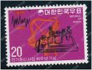 KR0878 Korea 1975 Korean Telecommunication Telegraph And Antenna 1 New 0405 Stamps - Corea Del Sud