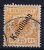Karolinen : Mi Nr  5 II B Gestempelt/used Signed/ Signé/signiert - Kolonie: Karolinen