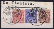 DP CHINA  : Mi Nr M  47 + 48 + 50 Mitläufer  TIENTSIN Combination - Deutsche Post In China