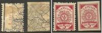 LETTLAND Latvia 1918 Michel 1 - 2 * Incl Inverted/kopfstehender Überdruck! - Latvia