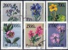 Poland Mi# 3282-3287 Used 1990: Protected Plants And Flowers - 1944-.... Republic