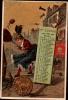 CHROMO Doré LIEBIG - Calendrier Mars 1887 - Astrologie Bélier - Liebig