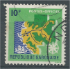 Gabon, Map, 10f., 1968, VFU Official - Gabon