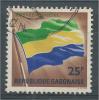 Gabon, Flag, 25f., 1968, VFU Official - Gabon