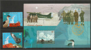 ARGENTINE. Expédition Aérienne Polaire En Antarctique De 1957. Un B-F + 2 T-p Neufs **  Côte 12,00 € - Polar Flights