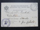 Portofrei Korrespondenzkarte Senftenberg Zamberk 1896  //// D*17506 - 1850-1918 Imperium