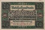 Reichsbanknote: 10 Mark - Made Berlin 6.2.1920 (G67-66) - [ 2] 1871-1918 : Duitse Rijk