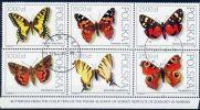 Poland Mi# 3343-3348 Used 1991: Butterflies - 1944-.... Republic