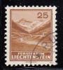 Liechtenstein Used Scott #121 25rp Samina Valley - Liechtenstein