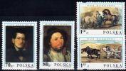 Poland Mi# 3846-3849 Used 2000: Piotr Michalowski Paintings - Used Stamps