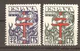 España/Spain-(MNH/**) - Edifil  949-50 - Yvert  709-10 - 1931-50 Neufs