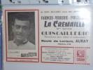 BLOTTER BUVARD Publicitaire   FAIENCES  PORCELAINES LA Cremaille route de Lorient Auray Louison BOBET Miroir Sprint