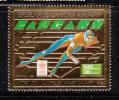 Malagasy Republic MNH Scott #804A 1500fr Speed Skating (gold Foil) - 1988 Winter Olympics - Madagascar (1960-...)