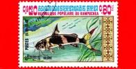 KAMPUCHEA - Cambogia - Nuovo Oblit.- 1983 - Pesci - Silure - 0.80 - Kampuchea