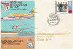 1973 BIGGIN Hill  TWIN COMANCHE FLIGHT COVER  Air Race Aviation Gb Stamps Air Fair - Airplanes