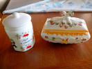 2 BOÎTES A DOUCEURS 1x FAÏENCE ROANNE COOMANS + 1x COFFRET Dans Le Goût ITALIEN ... BONBONS CHOCOLATS - Ceramics & Pottery