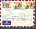 ! - Cameroun - Lettre Envoyée Par Avion De Bokito Vers Liège (Belgique) -  3 Timbres - Cameroun (1960-...)
