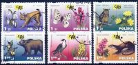 Poland Mi# 3896-3901 Used 2001: Endangered Species Of Wild Fauna And Flora - 1944-.... Republic