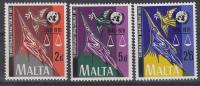 Malta - 25 Jahre Vereinte Nationen (UNO) - MNH - M 414-416 - UNO