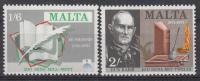 Malta - Dichter Und Schriftsteller/Dichters En Schrijvers - Suktanas-De Soldanis/C.Psaila-Dun Karm - MNH - M 420-421 - Malta