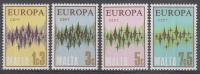 Malta - Europa/CEPT 1972 - MNH - M 450-453 - 1972