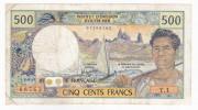 Nouvelle Calédonie - 500 FCFP - Surchargé NOUMEA - Y.1 / Signatures Y. Rolland-Billecart / J. Waitzenegger - Nouméa (Nuova Caledonia 1873-1985)