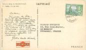 """TONGA - COURRIER VOYAGE -1955 - CARTE POSTALE - """" ILE DES AMIS - VILLAGE DE BOUGAINVILLE"""" - Voir 2 Scans. - Tonga (1970-...)"""