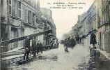 08 MEZIERES FAUBOURG D'ARCHES  CRUE DE LA MEUSE DECEMBRE 1919 CATASTROPHE NATURELLE  TRACE ROUGE DUE AU SCAN - Other Municipalities