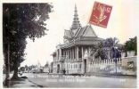 CAMBODGE PHNOM PENH  FACADE ET SALLE DES DANSES DU PALAIS ROYAL  ETHNOLOGIE TRACE ROUGE DUE AU SCAN - Cambodia