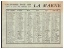 Petit Calendrier 1966 LA MARNE (PPP1318) - Calendriers